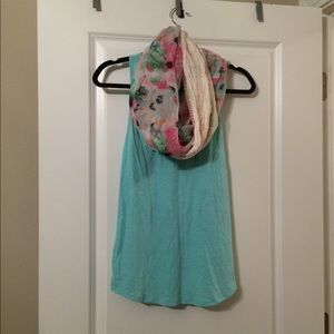 Bundle: Mossimo Tank and Floral Scarf